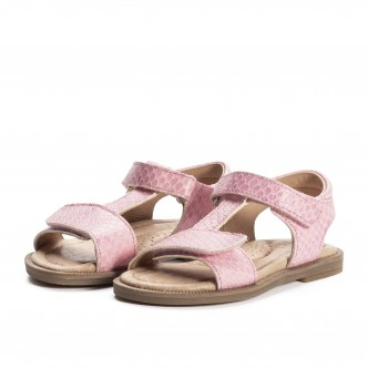 CLIC! SANDALS PINK SCALE PRINT