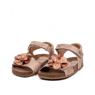 CLIC! SANDALS LEATHER FLOWER